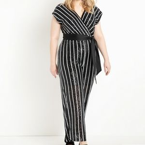 Dresses & Skirts - Striped sequin jumpsuit